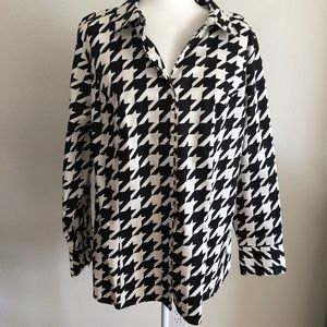 NWT Lane Bryant top blouse houndstooth size 22
